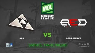aAa vs Red Reserve - ESEA MDL 27 - de_inferno [sleepsomewhile]