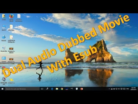 Add Hindi / Any Language Audio track in Hollywood / English Movies with Esubs