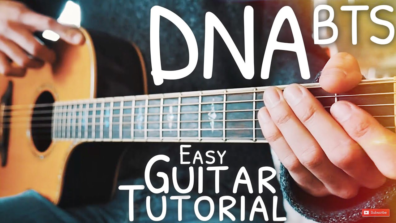 DNA BTS Guitar Lesson for Beginners // DNA Guitar // Guitar Tutorial #578