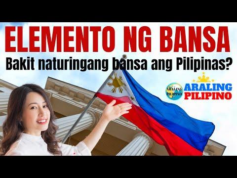 Mga Elemento ng Bansa Araling Pilipino Araling Panlipunan Grade 4