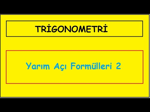 Doğru Cevap Vakfıkebir & Beşikdüzü / Geometri / Trigonometri - Yarım açılar 2
