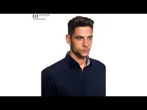 Finest-Trachten.de: Business Hemd Slim Fit zweifarbig in Dunkelblau und Hellblau von Embraer