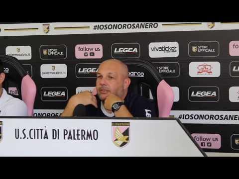 Palermo, Tedino alla vigilia del test col Mazara VIDEO