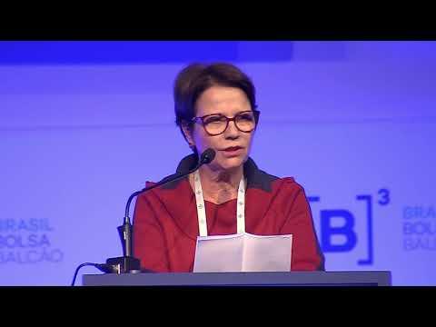 Deputada Tereza Cristina participa da homenagem ao presidente da CNA na Abag