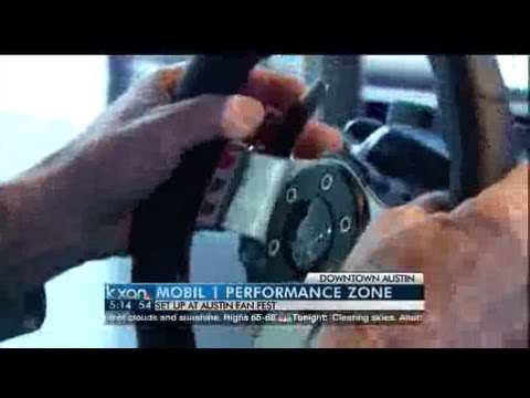 Simulated Racing - Mobil 1 Performance Zone gives race fans a thrill.