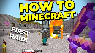 How to Defeat a Pillager Raid and WIN! - How to Minecraft #23