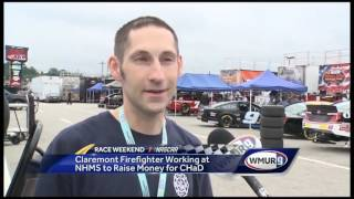 Claremont firefighter is a former patient at the hospital Subscribe to WMUR on YouTube now for more: http://bit.ly/1lOjX9C Get...