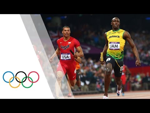 relay - The Jamaican team set a new world record of 36.84s at the London 2012 Games. Here we re-live the full race coverage as Jamaica's team of Carter, Frater, Blak...