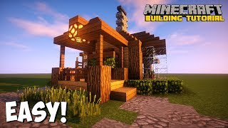 MINER HOME - Minecraft: How to build a starter house tutorial! EASY AND COMPACT!