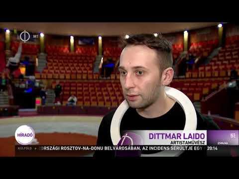 Jégbe zárt cirkuszvilág az M1 híradójában