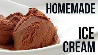 Homemade Dark Chocolate Ice Cream (How To Make - Easy Home Recipe) - YouTube