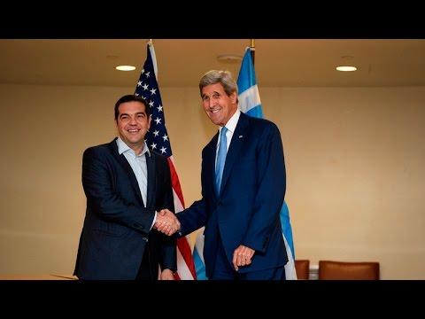 Συνάντηση του Αλ. Τσίπρα με τον Αμερικανό υπουργό Εξωτερικών Τζον Κέρι