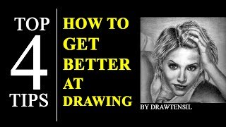 How to Get Better at Drawing - 4 Tips To Improve your Drawing Skills.See the difference between my  before and after drawings.
