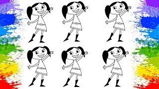 Jogos de meninas - O show da Luna Colorindo Desafio Desenho animado Cartoon para crianças Como pintar Desenho infantil