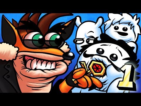 Oney Plays Crash Bandicoot Warped WITH FRIENDS - EP 1 - Crimson Cosby (Crash Bandicoot 3) (видео)