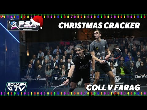 Squash: Coll v Farag - FULL MATCH - Windy City Open 2020 - Christmas Cracker