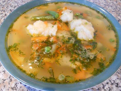 Овощной суп с клецками рецепт с фото