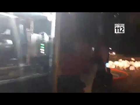 Wideo1: Pożar fermy indyków w Piotrowie Pierwszym