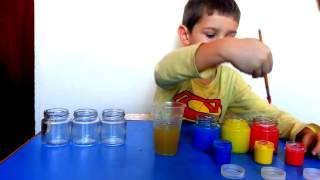 Эксперимент: Радуга в стаканах/Шагающая вода/WALKING WATER Easy Kids Experiments