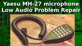 Fix the well known low audio fail mode with the MH-27. Replacement of one capacitor.