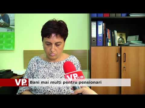 Bani mai mulți pentru pensionari