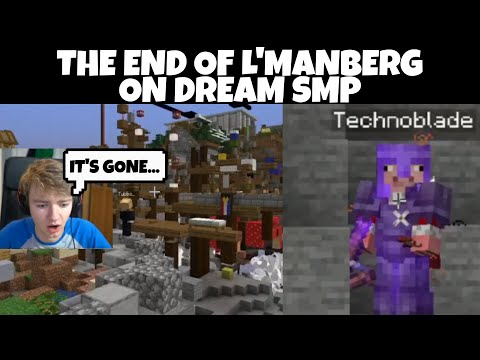 The end of L'manberg on Dream SMP
