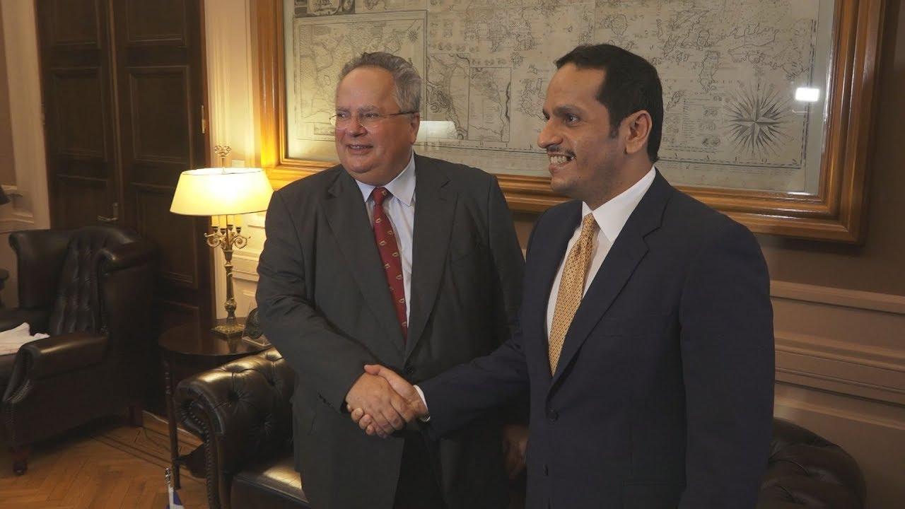 Συνάντηση του Ν.Κοτζιά με τον αναπληρωτή πρωθυπουργό και υπουργό Εξωτερικών του Κατάρ