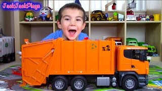 Bruder Scania Garbage Truck Surprise Toy UNBOXING: Playing Recycling