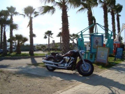 Yamaha Cruiser Motorcycle ride Cyprus Polis and Latchi part three  2014 (видео)