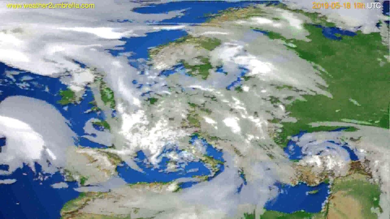 Cloud forecast Europe // modelrun: 12h UTC 2019-05-16
