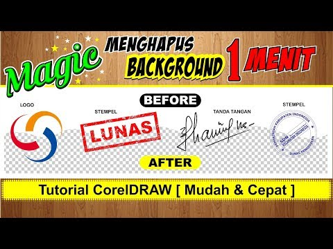 [magic] Cara Menghapus Background Di Coreldraw - Tutorial Coreldraw