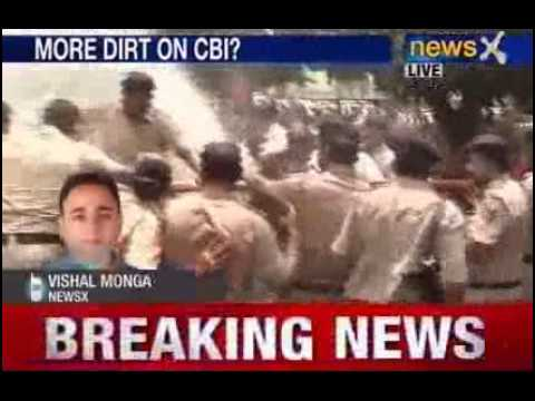 protest - NewsX: BJP is protesting outside CBI office in Chandigarh, they are demanding transfer of the DIG police Mahesh Aggarwal. Remember, a CBI inspector Balbir Si...