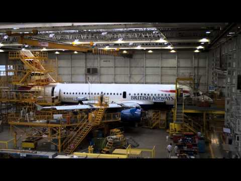British Airways Maintenance Glasgow: Time Lapse A319 C-Check