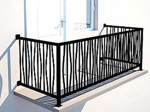 Ограждение для балкона своими руками из металла