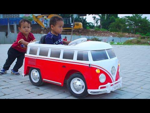 Zafi Naik Mini Bus Mainan Anak   Anak Lucu Naik Mobil Mobilan