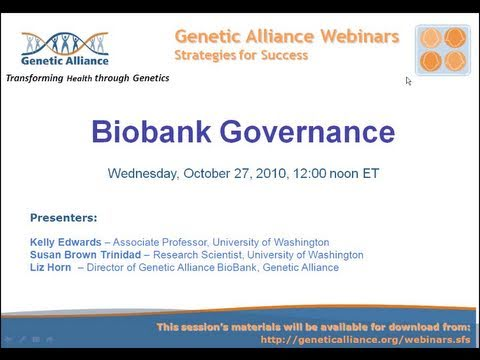 biobank - Registries and biobanks are important tools to advance research, and stewardship and governance are vital components of these research endeavors, as donors a...