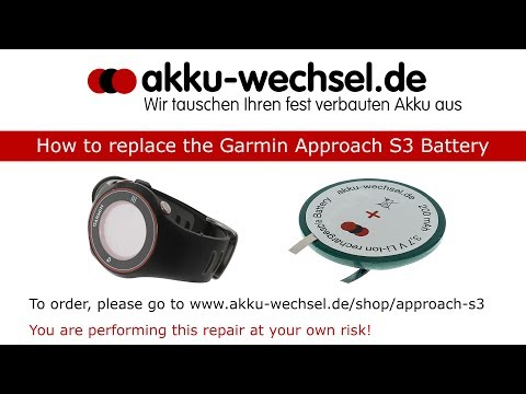 Akku-Wechsel bei der Garmin Approach S3 Golf GPS-Uhr