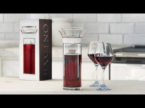 SAVER - http://www.thegrommet.com/the-savino-wine-saver-carafe-enthusiast This carafe wine preserver, discovered by The Grommet, is elegantly designed not only to serve wine, but to keep it exceptionally...