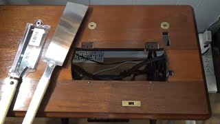 How to Cut a Treadle Sewing Machine Cabinet to Fit a Bigger Machine