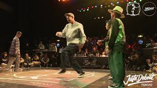 SO & Cgeo vs 勇太 & Lil Rebel – JUSTE DEBOUT TOKYO 2020 POPPING BEST8 (Another angle)