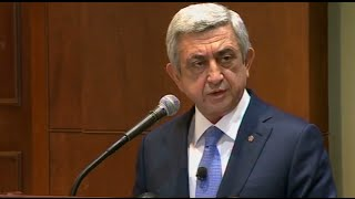 President of the Republic of Armenia Serzh Sargsyan's Working Visit to the USA