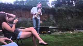 Blues Saxophone and acoutic guitar (whisky chase)