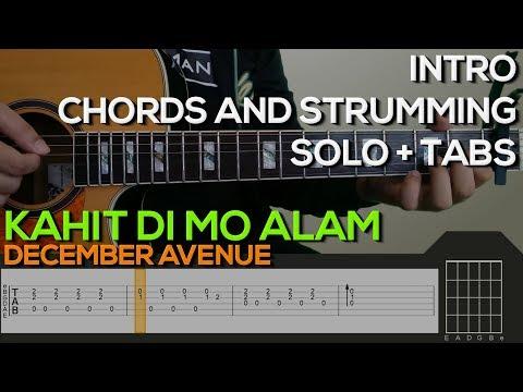 December Avenue Dahan Intro Chords Strumming Solo Guitar