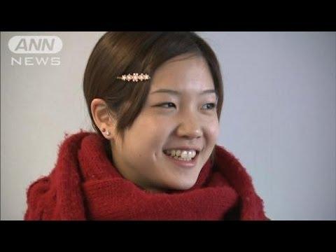 「ありがとう」バレエ優勝の菅井さん笑顔で帰国(12/02/06)