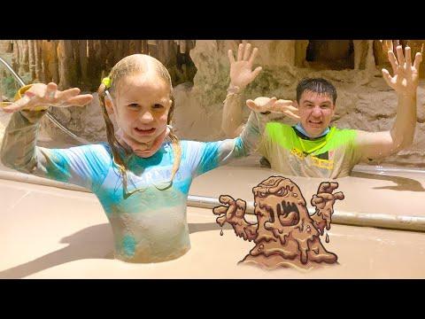 Nastya and a fun family trip