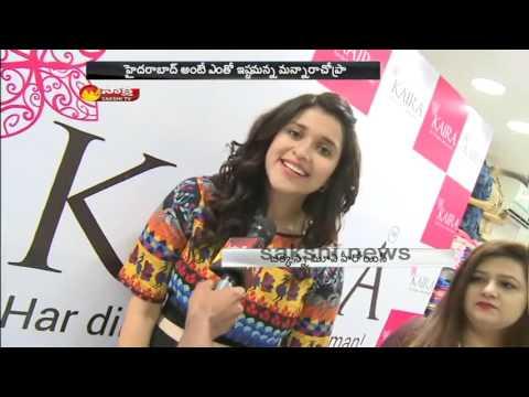 Jakkanna Fame Mannara Chopra Launches New Designs in Kaira || Hyderabad