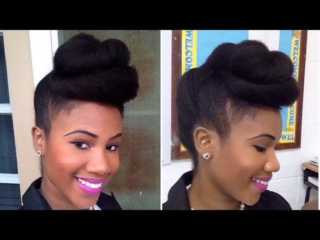 Twisted-pompadour-roll-tuck