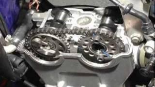 10. Yamaha YZ250F Hot Cams valve clearance inspection