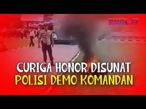 Curiga Honor Disunat, Polisi Demo Komandan