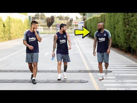Arturo Vidal 1st Training in Barcelona - ft. Messi, Suarez, Coutinho [06/08/2018]